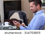 young businessman checks the... | Shutterstock . vector #316703855