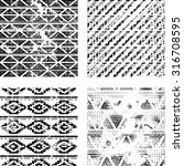 hipster tribal seamless pattern ... | Shutterstock .eps vector #316708595