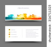 vector watercolor set banner.... | Shutterstock .eps vector #316711325