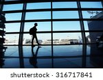 traveler at the airport.... | Shutterstock . vector #316717841