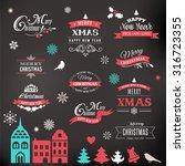 christmas design collection ... | Shutterstock .eps vector #316723355