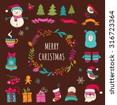 christmas design elements  ... | Shutterstock .eps vector #316723364