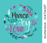 merry christmas background with ... | Shutterstock .eps vector #316726187