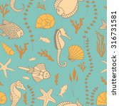 seamless pattern with hand... | Shutterstock .eps vector #316731581