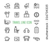 set of travel line icon... | Shutterstock .eps vector #316734335