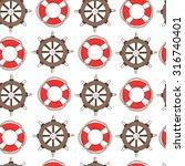 offshore hand drawn seamless... | Shutterstock .eps vector #316740401