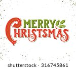 merry christmas retro poster... | Shutterstock .eps vector #316745861