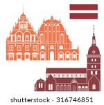 latvia buildings. abstract...   Shutterstock .eps vector #316746851