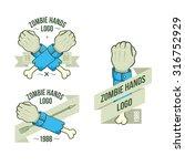 set of logos zombie hands... | Shutterstock .eps vector #316752929