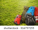 travel backpack. | Shutterstock . vector #316757255