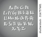 alphabet letters. hand drawn... | Shutterstock . vector #316757681