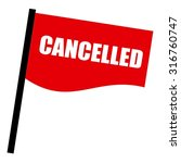 cancelled white stamp text on... | Shutterstock . vector #316760747