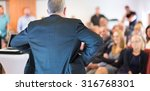 business man leading a business ... | Shutterstock . vector #316768301