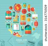 school illustration on line...   Shutterstock .eps vector #316770509