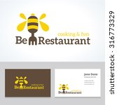 bee business card and vector... | Shutterstock .eps vector #316773329