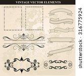 decorative vintage frames...   Shutterstock .eps vector #316775924