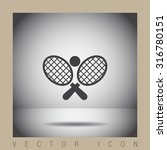 tennis racket ball vector icon | Shutterstock .eps vector #316780151