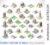 isometric office building city... | Shutterstock . vector #316782134