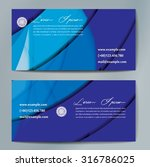 stylish business cards with... | Shutterstock .eps vector #316786025