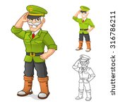 high quality general army... | Shutterstock .eps vector #316786211