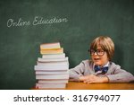 the word online education and... | Shutterstock . vector #316794077