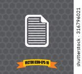 vector icon of document on dark ...
