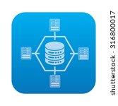 database server network icon on ... | Shutterstock .eps vector #316800017