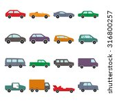 car collection icon vector... | Shutterstock .eps vector #316800257