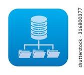 share database server network... | Shutterstock .eps vector #316800377