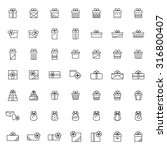 present icon set in thin line...   Shutterstock .eps vector #316800407