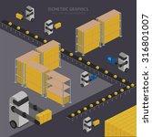 warehouse process isometric... | Shutterstock .eps vector #316801007