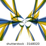 yellow and blue waves isolated... | Shutterstock . vector #3168020
