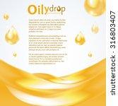 oily drop background | Shutterstock .eps vector #316803407