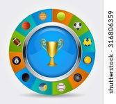 sport icons vector eps 8. | Shutterstock .eps vector #316806359