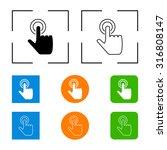 hand click icon vector... | Shutterstock .eps vector #316808147