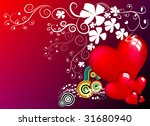 floral background with red... | Shutterstock .eps vector #31680940