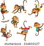 funky monkey clothing. ... | Shutterstock .eps vector #316810127