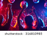 group of young people with... | Shutterstock . vector #316810985