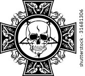 skull with cross | Shutterstock .eps vector #31681306
