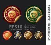 vector   100  pure nature farm... | Shutterstock .eps vector #316816661