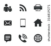 contact  mail icons.... | Shutterstock .eps vector #316819271