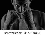 boxing man ready to fight.... | Shutterstock . vector #316820081