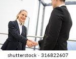 business man and woman... | Shutterstock . vector #316822607