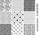 set of geometric seamless... | Shutterstock .eps vector #316828385