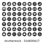 investment icons set | Shutterstock .eps vector #316830617