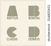 creative capital letters a  b ... | Shutterstock .eps vector #316832621