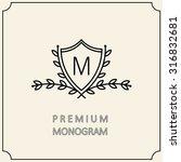 Premium Modern Monogram  Emble...