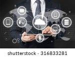 network cloud. | Shutterstock . vector #316833281
