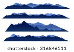 blue sky mountain view set... | Shutterstock .eps vector #316846511