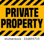 Private Property Sign.